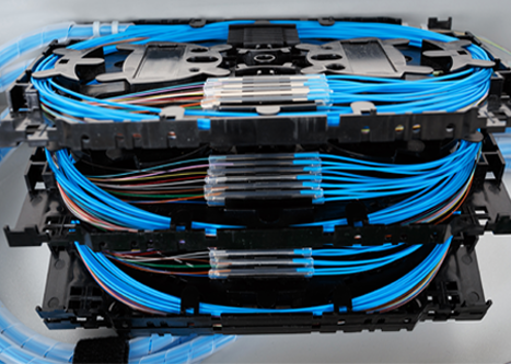 Fiber optics can deliver data, video, audio and more very efficiently.